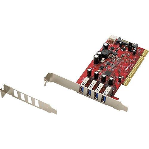 Renkforce 4 Port USB 3.0-Controllerkarte USB-A PCI - Esata-karte