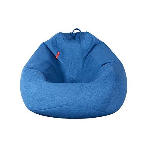 Classic Sitzsack Extra Groß for Erwachsene EPP Umweltfreundlich Füllkörnchen Ausgesucht Leinenbaumwollmantel Lagerstark (Color : Blue, Size : L)