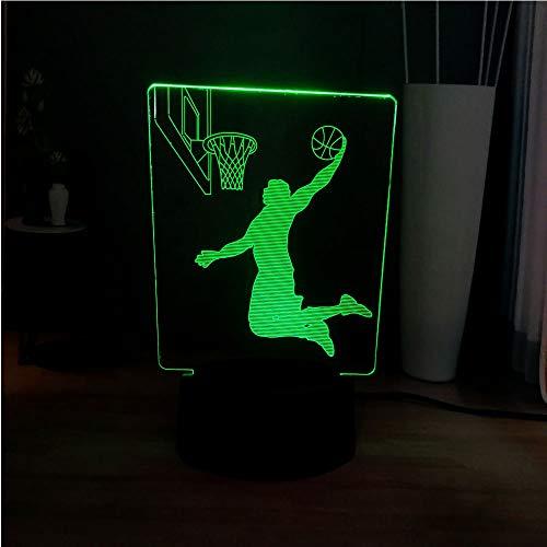 3D Handsome Slam Dunk Cool Boy blenden LED Novel Dekoration Atmosphäre Tabelle Nachtlicht Freund Urlaub Valentinstag Geschenke
