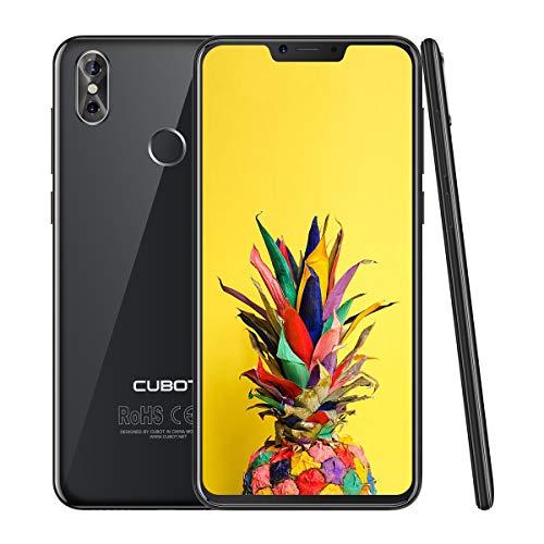 CUBOT P20 4G LTE Dual SIM Smartphone Android 8,0, 6,18 Zoll IPS Bildschirm, 4000 mAh Akku 4GB RAM+64GB ROM 20MP Rückkamera+13MPFrontkamera 0.1s Fingerprint Sensor Handy Ohne Vertrag (Schwarz) - Lg Entsperrt Sim Handys