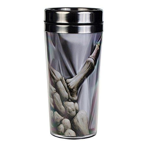 Spiral Death Grip Tasse - Mug Voyage Thermos Design Squelette (Gris)