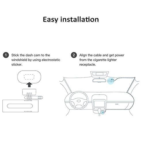 41jY5ziwTYL - Xiaomi 70mai Smart Dash CAM con WiFi Incorporado, con Control de Voz, grabación de Emergencia, Panel de Control de App, HD 1080P, Gran Angular de 130 ° con visión Nocturna, G-Sensor, DVR automóvil