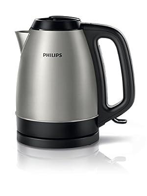 Philips - Bouilloire noire en acier inoxydable 1,5 L 2200W (réf. HD9305/21)