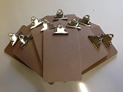 Pack of Ten A5 Wooden Clipboard With Chrome Clip And Sturdy Hardboard Back