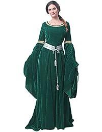 322dbe9d19efc Nuoqi Donne Abiti medievali Regina Halloween Costume Costume Adulto Verde