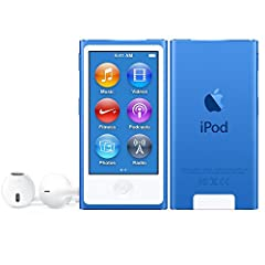 Idea Regalo - Apple iPod Nano 7th Generation Lettore Digitale Portatile, Azzurro