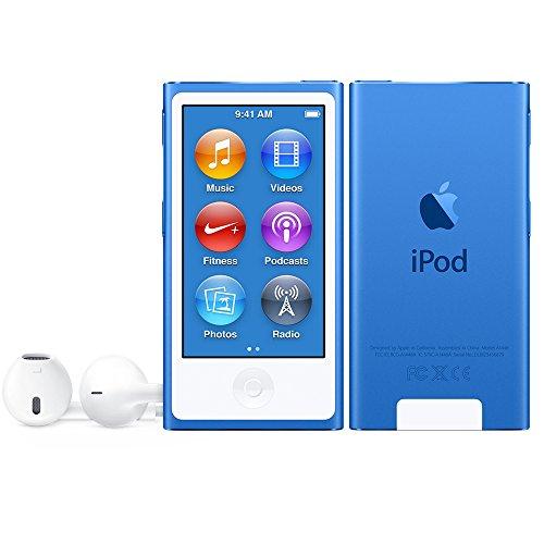 Apple ipod nano 7th generation lettore digitale portatile, azzurro
