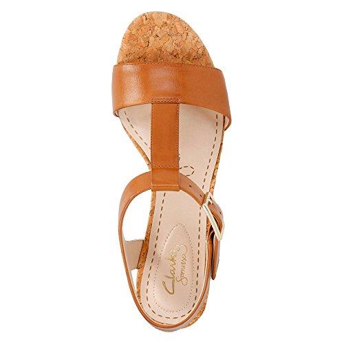 Clarks, Sandali donna Tan Leather