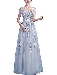 Vestido De Fiesta Largo Para Cuello V Vestido De Dama De Honor De La Novia Vestido