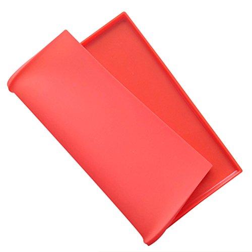 BESTONZON Silikon Backblech Rollmatte Swiss Roll Backmatte (Zufällig Farbe) Jelly Roll Pan