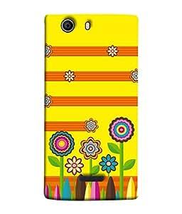 PrintVisa Designer Back Case Cover for Micromax Canvas 5 E481 (Yellow Orange Green Art Illustration Decoration Image Modern Concept)