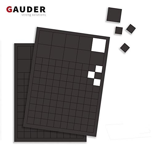 GAUDER 220x Magnetplättchen Selbstklebend I Magnet-Plättchen für Fotos, Postkarten, Schilder, Schule & Tafel