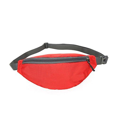 FZHLY Outdoor-Männer Und Frauen Lauf Taschen Personal Anti-Diebstahl-Tasche Laufen Red