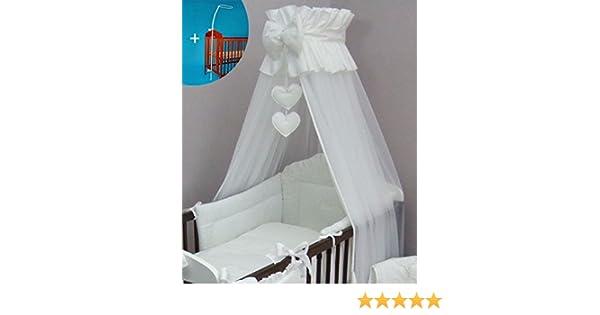 Himmel babybett transparent : Betthimmel für babybett cm inkl halterung und herz