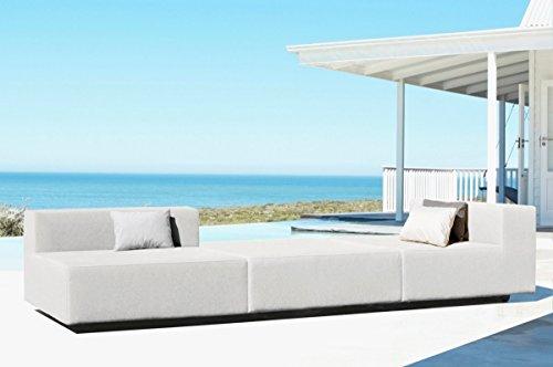 Mueble de jardín modular, sofá exterior en tela impermeable colección 'Metric'