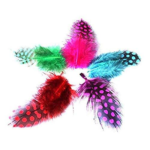 STOBOK 100 stücke Bunte Gefleckte Federn Natürliche Hühnerfedern für DIY Handwerk Schmuck und Kleidung Dekoration Party Favors ()