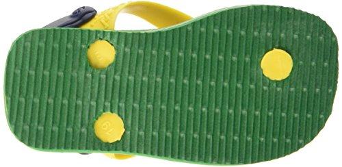 Havaianas Brasil Logo, Sandales Plateforme mixte bébé Vert (Vert 2703)