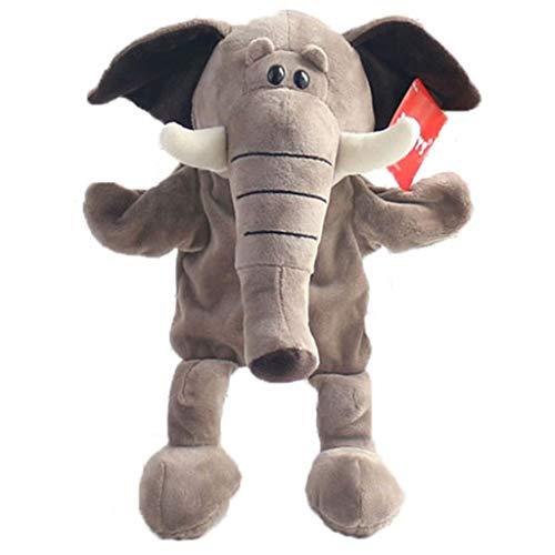 F Fityle Niedliche Wilde Tier Handpuppen Plüschtier Handpuppe Spielzeug zum Märchen und Geschichte Erzählen für Baby und Kinder - Elefant