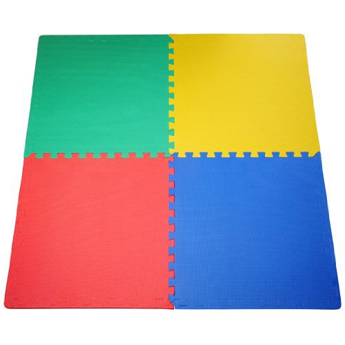 JSG-Accessories-OutdoorIndoor-Protective-Flooring-Mats-Interlocking-Reversible-Floor-Matting-suitable-for-Gym-Play-Area-Exercise-Yoga-in-MULTICOLOUR-Red-Blue-Gree-Yellow-4-48-tiles-16-192sqft