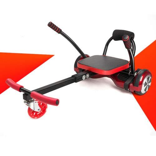 BTdahong Kart Sitz Halter Ständer Seat Holder für Go Kart Self Balance Scooter Max. Belastung 200lbs Zwei Lenkgriffe 80x43.5x44cm Metall & ABS Rot