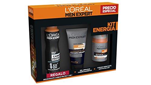 L'Oreal Men Expert Kit energia Cofre Hydra Energetic Crema Hidratante y Gel...