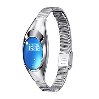 WELLEAD Armband Smart Bewegung Metallband Frauen Herzfrequenz Blutdruck Schritte Smart Z18L Armband-Silber