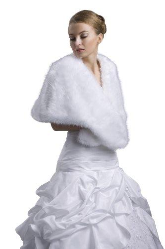 Braut Cape Brautkleid Brautmoden- aus feinem Nerzfell - E3 (ivory/champagner)