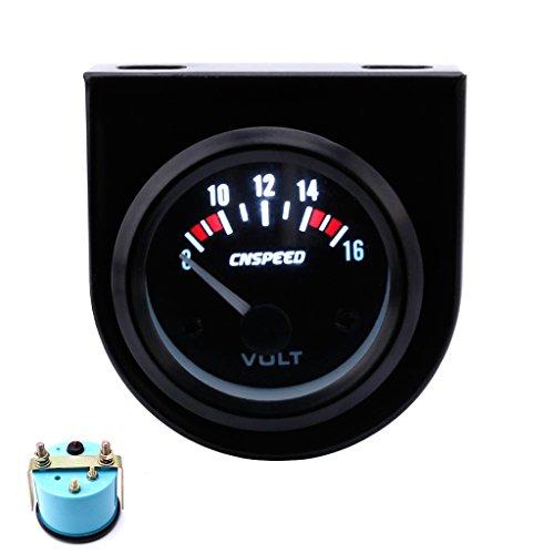 Haia7 K4 k Auto Volt Voltmètre Jauge de tension Mètre, 8-16 V Blanc LED 5,1 cm 52 mm pour mécanique Auto