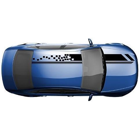 Tiras Viper 14 x 400 cm a cuadros tiras decorativas pegatinas para coche moto 2N007 - gris oscuro