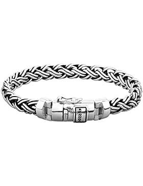 [Gesponsert]KUZZOI Silberarmband Herrenarmband aus massivem 925er Sterling Silber, Breite 8,5 mm, 335111