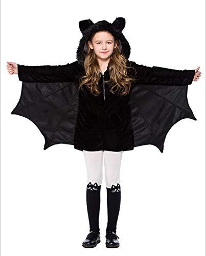 FENGT Halloween Women Es Cosy Bat Kostüm Erwachsene Und Kinder Schwarz,XXXL