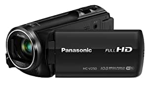 Panasonic HC-V250EB-K Full HD Camcorder - Black (90x Intelligent Zoom, Power OIS, Wi-Fi, NFC) (New for 2014)