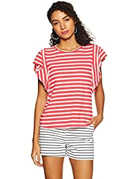 United Colors of Benetton Women's Regular Fit Top (18P3CT2E1460I_PARADIES Pink+Snow White_XS)