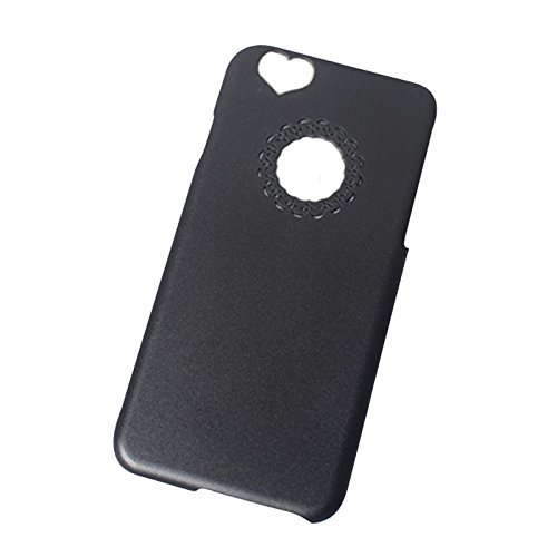 iPhone 6/6S Case - TOOGOO(R) Herz Rueck Design hart Huelle Tasche Case Cover Bumper fuer 4,7 Zoll Apple iPhone 6 6S (Weinrot) Schwarz
