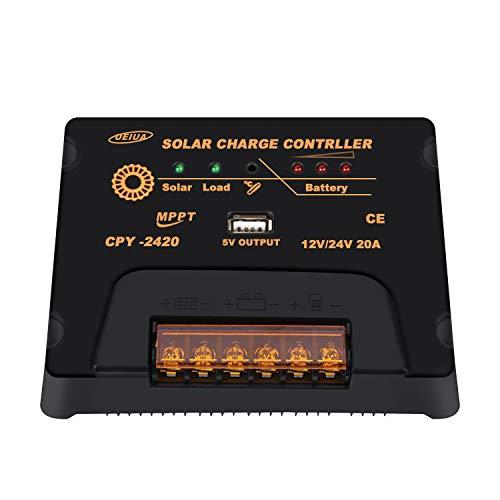 De la fabricación:   El controlador de carga MPPT es adecuado para varias aplicaciones solares fuera de la red. Protege a la batería para que no se sobrecargue con los módulos solares y se sobrecargue con las cargas. El proceso de carga se ha optimi...