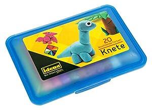 Idena 68125-Caja con 20Barras para amasar plastilina, Azul