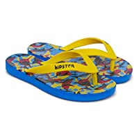 Boys Yellow Blue Shark Flip-Flops. for Beach, Pool and Garden. Waterproof Multicolour, Size 11/12/13 Child UK; 1/2/2.5/3/4 Adult UK