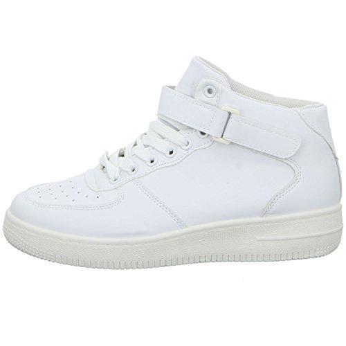 SDS 51106-Y Damen Schnürstiefelette Kaltfutter sportlicher Boden Weiß (Weiß)