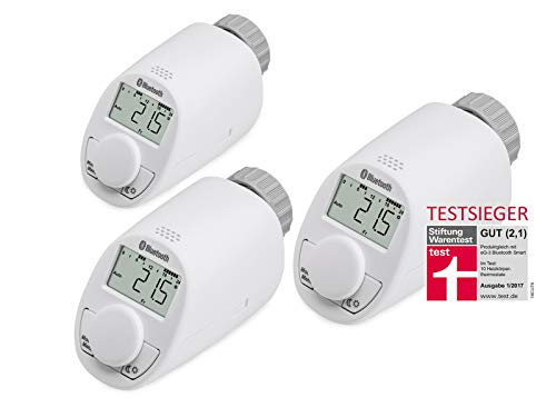 Heizkörper-Thermostatkopf EQIVA mit Bluetooth, 3 Stück