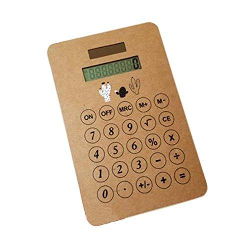 Moderner tragbarer Solarenergie-Taschenrechner-kleines Geschäft Calculator-G4