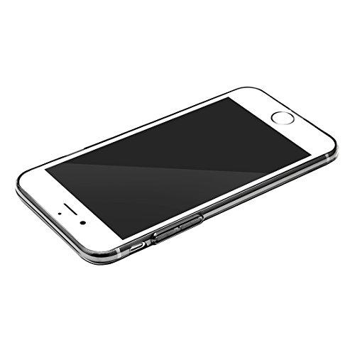 Hülle für iPhone 7 plus , Schutzhülle Für iPhone 7 Plus Einfache Serie Weiche transparente TPU schützende rückseitige Abdeckungs-Fall ,hülle für iPhone 7 plus , case for iphone 7 plus ( Color : Gold ) Black