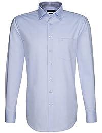 Seidensticker Hemd Uno Kentkragen in Langarm (66cm) Bügelleicht hellblau, Einfarbig