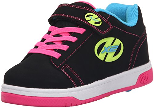 Heelys Dual Up 770231 - Sneakers Basses - Fille Noir (Black / Neon Multi)