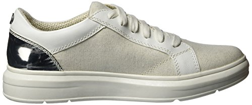 s.Oliver 23617, Sneakers Basses Femme Blanc (WHITE COMB. 110)