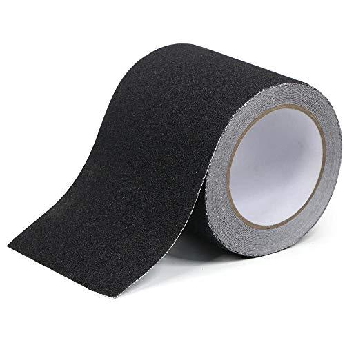 Anti-Rutsch-Griffband, schwarz, hohe Zugkraft, rutschfeste Unterlage, starkes Klebeband für Treppen, Treppenstufen, Außen- und Innenbereich, 100 mm x 5 m