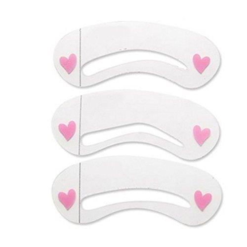 Gemini _ Mall 3 pcs sourcils Pochoir Toilettage façonnage Modèle Outil de maquillage 3-style