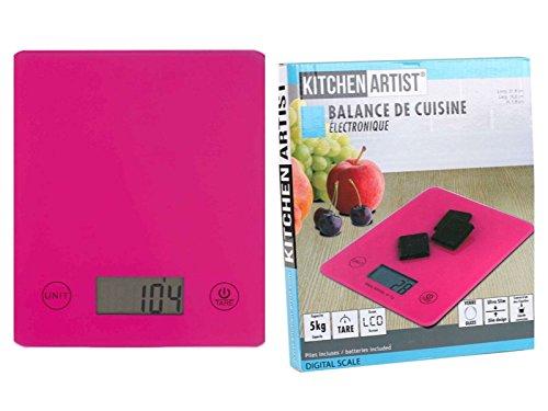 Báscula electrónica de cocina fina en color rosa (incluye pilas-berühr pulsador pantalla LCD-Función de Vacío ultra fina Báscula de cocina con función grammgenauer cuna en rosa. la rosa Báscula de cocina no es sólo un ayudante en la cocina, sino...