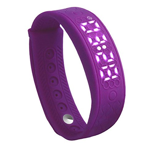 Amlaiworld H5S Smart bracciale,Pedometro 3D & Dormire Tracker & Fitness Tracker (viola)
