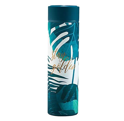 Gobelets Tasse Thermos Femme Portable Coupe étudiante Couple Tasse Tasse à thé Thermos en Acier Inoxydable Grande capacité Creative pour Hommes (Color : Green, Size : 4.2cm*23cm)