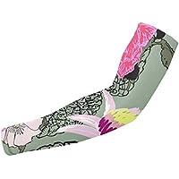 Mangas de protección para el brazo con patrón floral realista, protección solar, unisex, para deportes al aire libre (1 par)